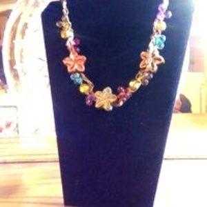 Versatile Porcelain Flower Necklace